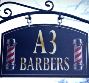 A3 Barbers sign